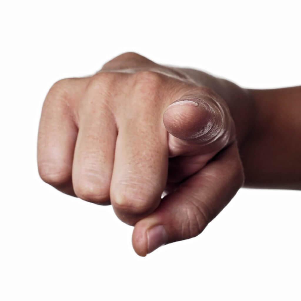 אצבע שמצביעה כלפיך